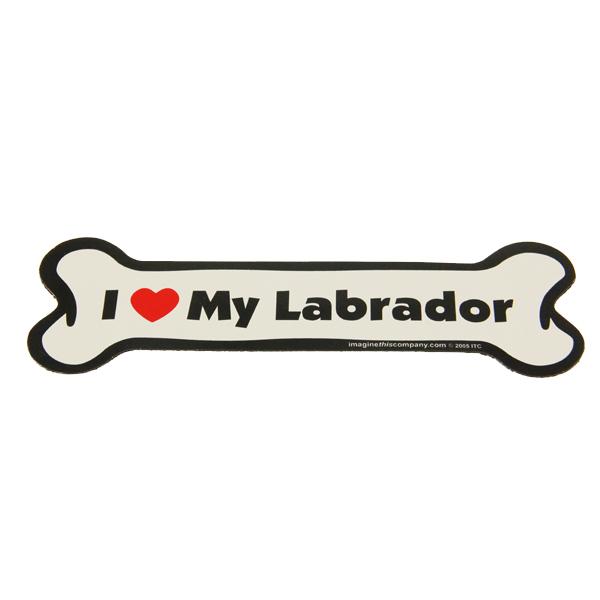 Bone Magnet - I Love My Labrador