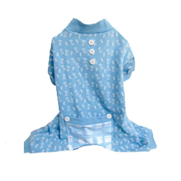 Bones Dog Pajamas - Blue