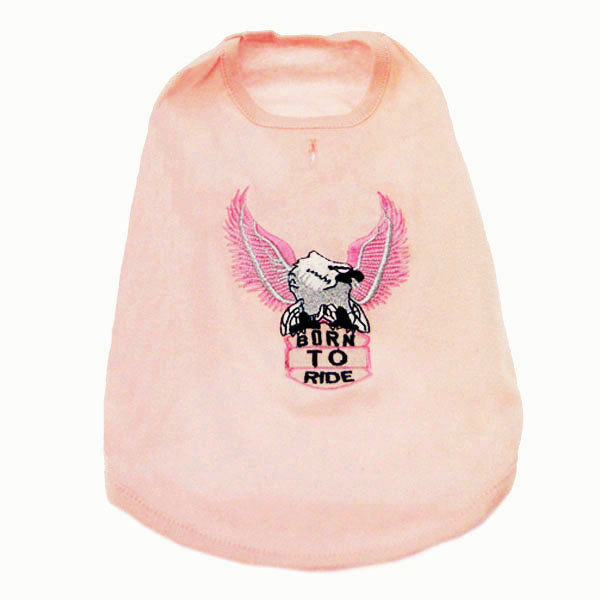 Born to Ride Eagle Tank Top - Pink