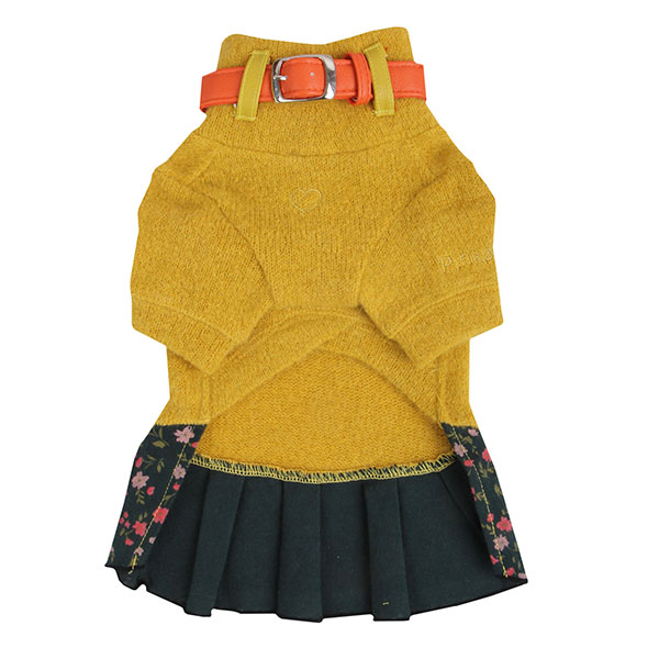 Bounty Dog Dress by Pinkaholic - Mustard