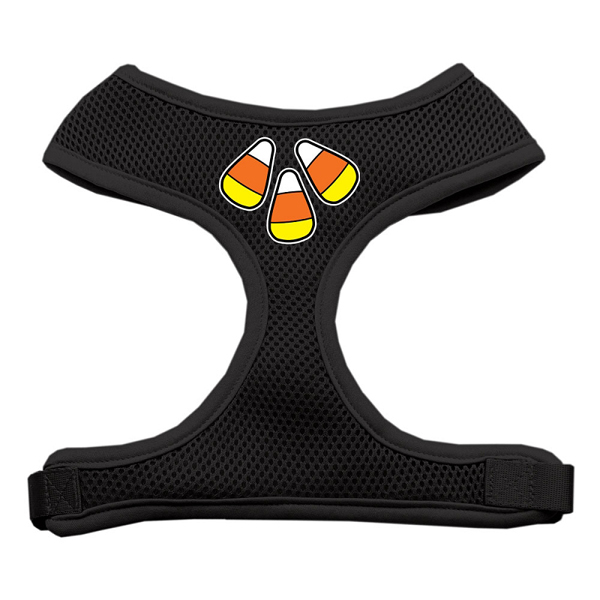 Candy Corn Halloween Dog Harness - Black