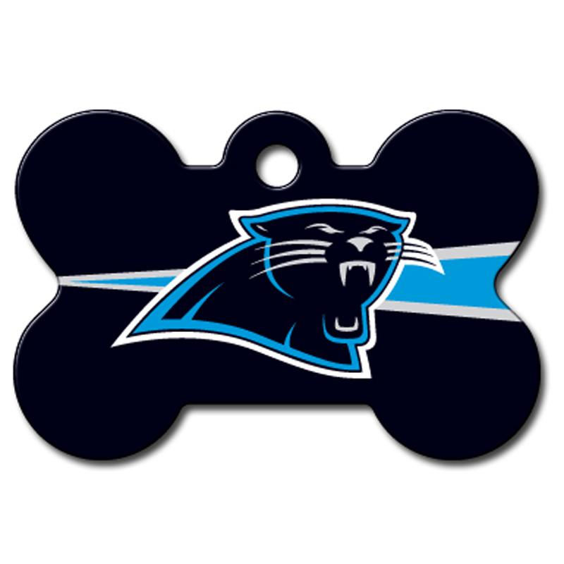 Carolina Panthers Engravable Pet I.D. Tag - Bone