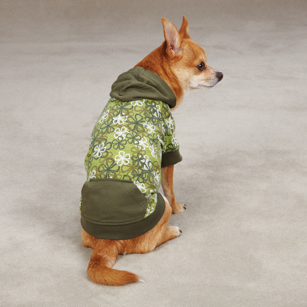 Carolina Pullover Dog Hoodie - Green