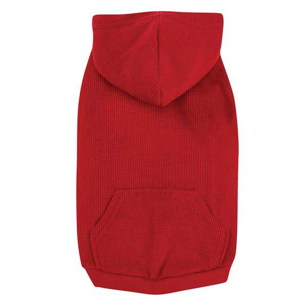 Casual Canine Basic Waffle Dog Hoodie - Red