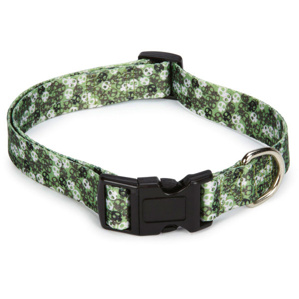 Bone Heads Dog Collar - Green