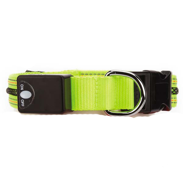 Fluorescent LED Dog Collar - Yellow