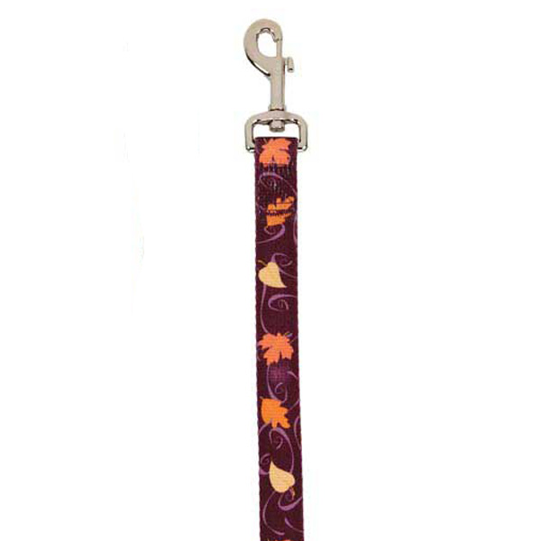 Casual Canine Harvest Dog Leash - Leaves