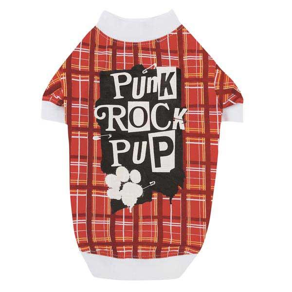 Punk Rock Pup Dog T-Shirt - Red