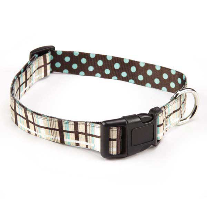 Rad Plaid Dog Collar - Chocolate
