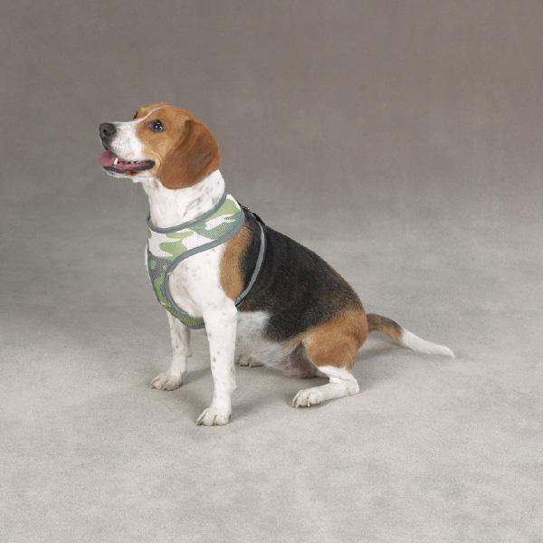 Casual Canine Reflective Mesh Harness - Camo