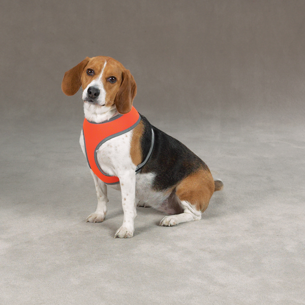 Casual Canine Reflective Mesh Harness - Orange