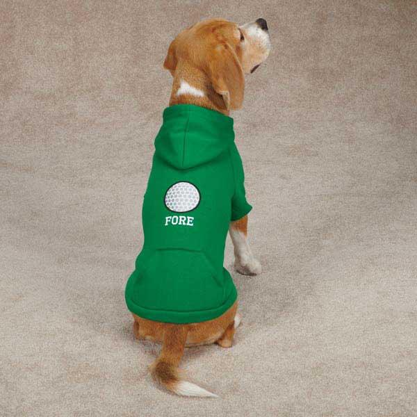 Sports Hound Dog Hoodie - Golf