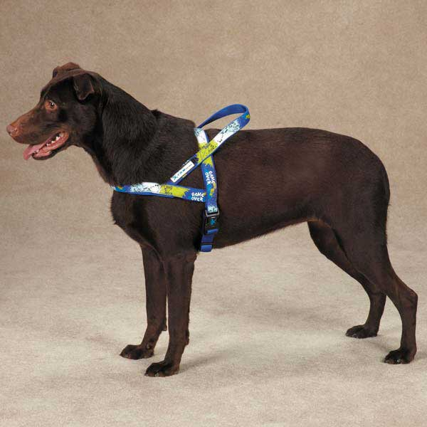 Casual Canine Xtrm Game Over Harness - Blue