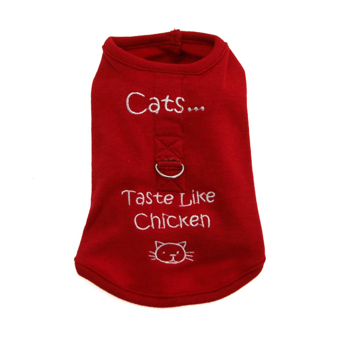 Cats Taste Like Chicken Dog Harness Shirt