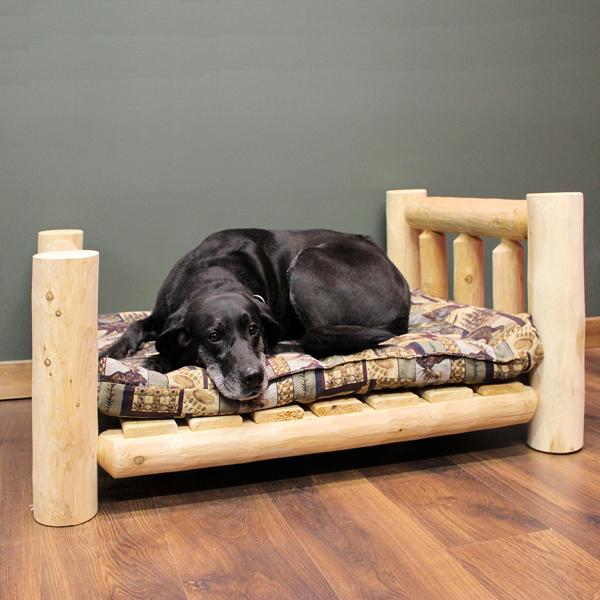 Cedar Lodge Dog Bed w/ Vertical Rails