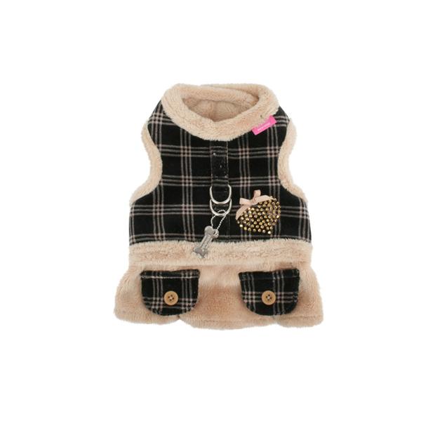Checkered Flirt Harness Dress by Pinkaholic - Beige