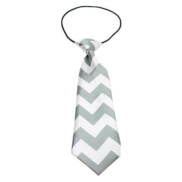 Chevron Big Dog Neck Ties - Gray