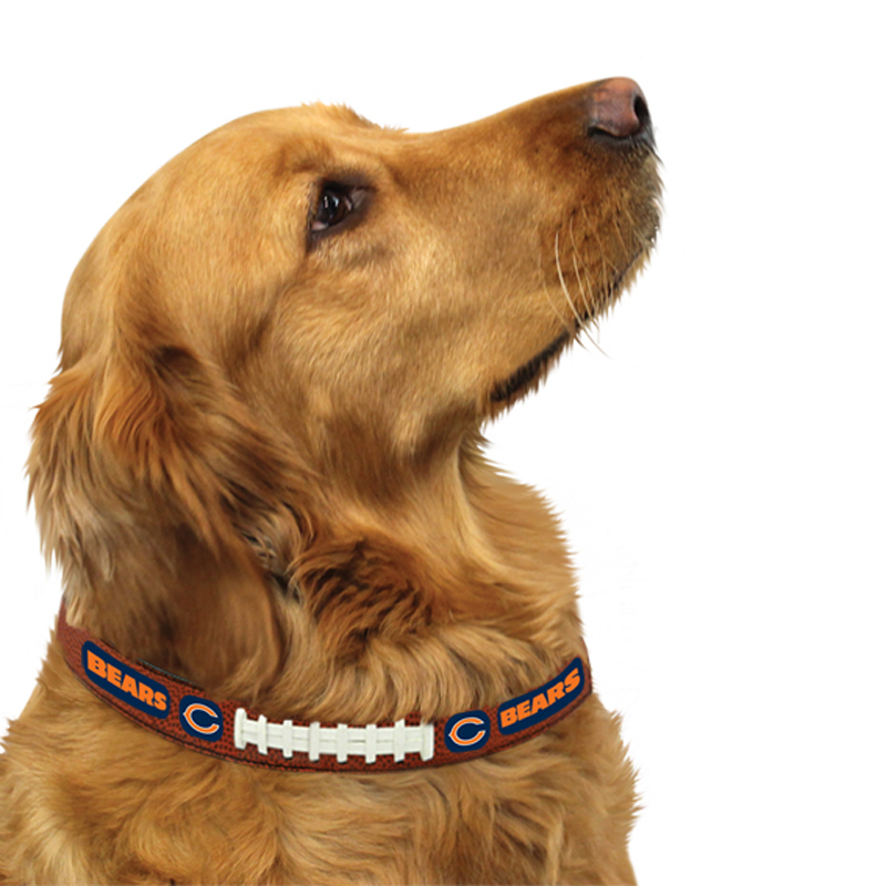 Chicago Bears Leather Dog Collar