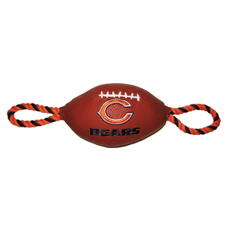 Chicago Bears Pebble Grain Football Dog Toy