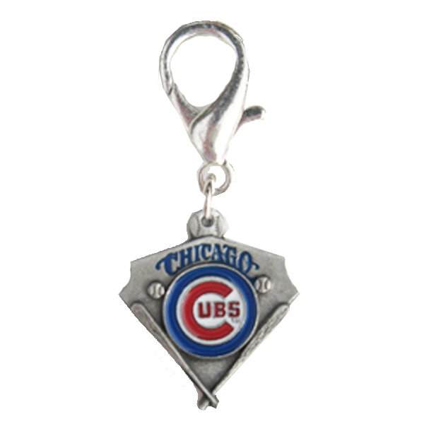 Chicago Cubs Pennant Dog Collar Charm