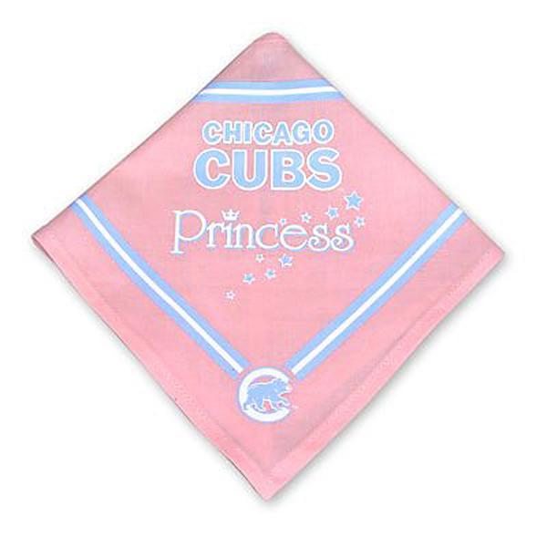 Chicago Cubs Pink Dog Bandana