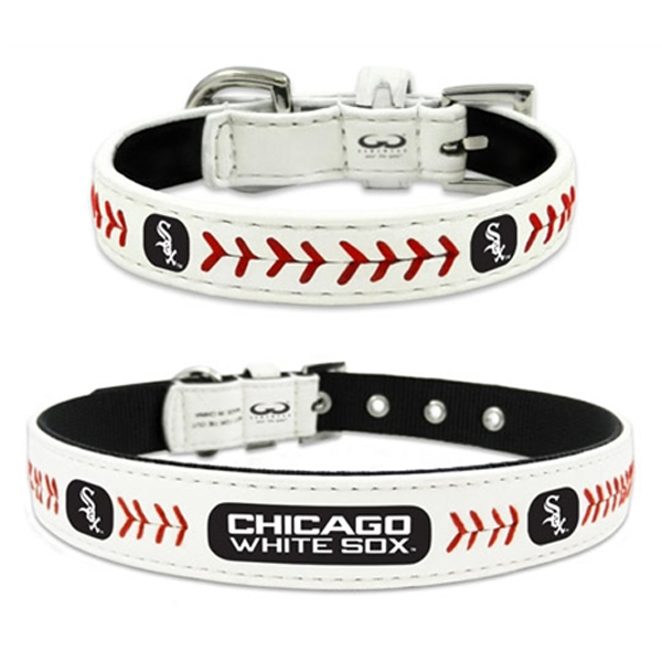 Chicago White Sox Leather Dog Collar