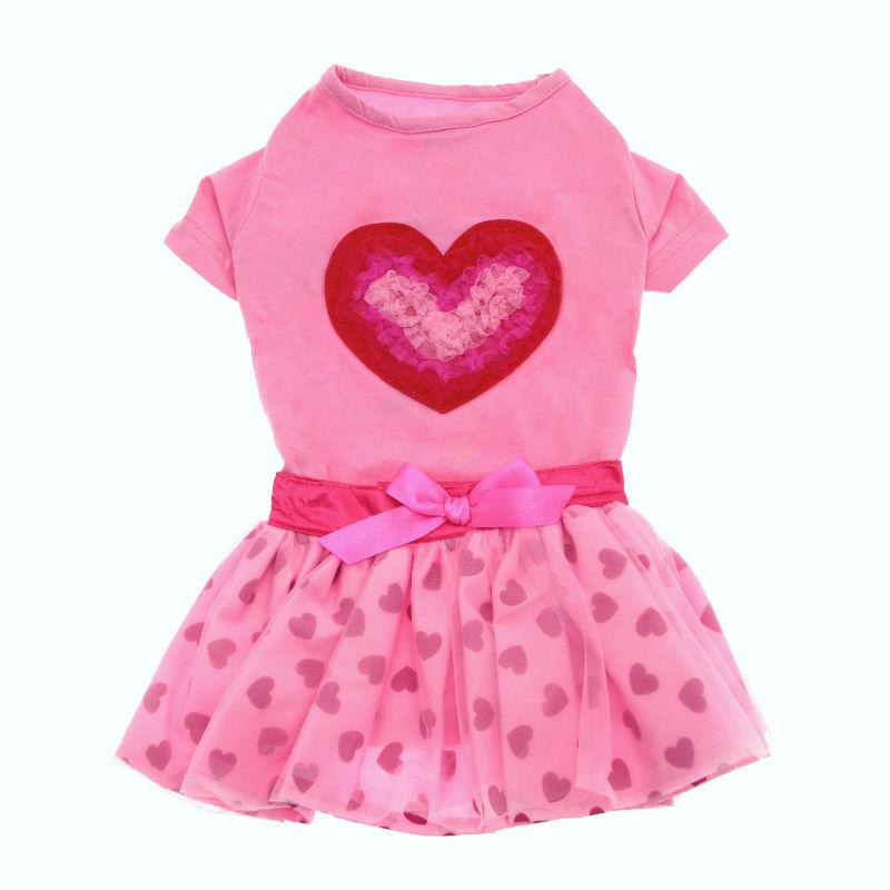 Chiffon Heart Shirt & Skirt Set