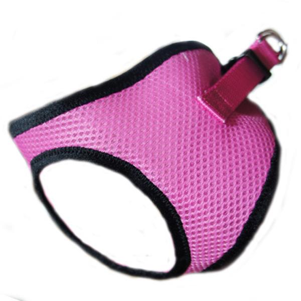 Choke-Free Mesh Step-In Dog Harness - Pink Lady