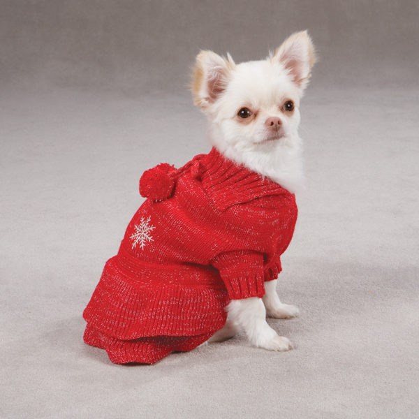 Christmas Pageant Dog Sweater Dress - Red