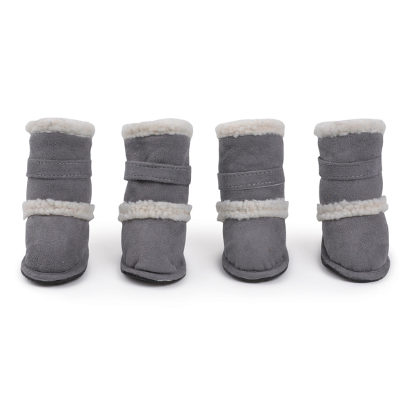 Classic Sherpa Dog Boots - Gray