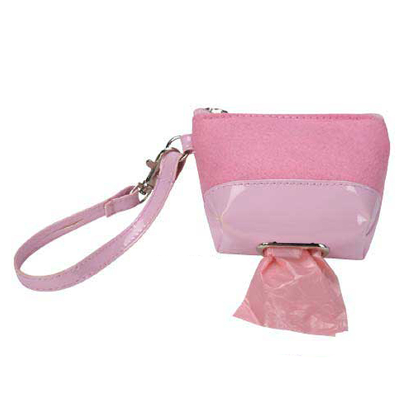 Clean Go Pet Waste Bag Wristlet - Petal Pink