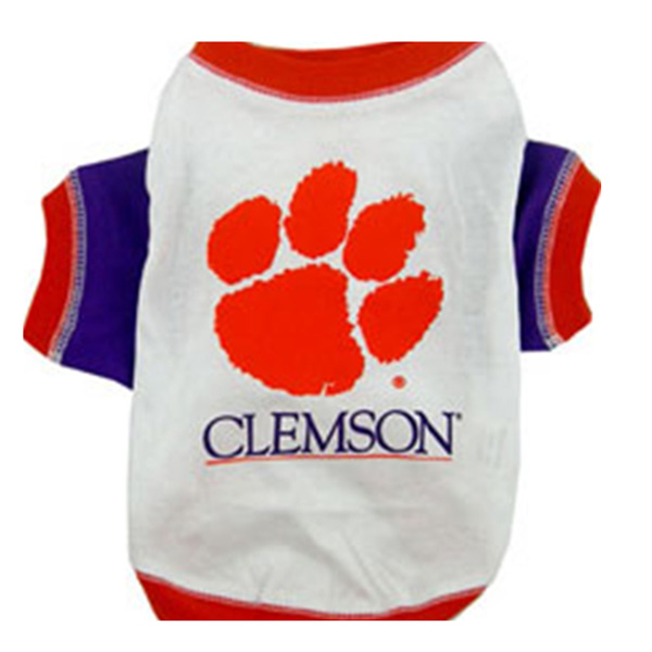 Clemson Tigers Dog T-Shirt - White