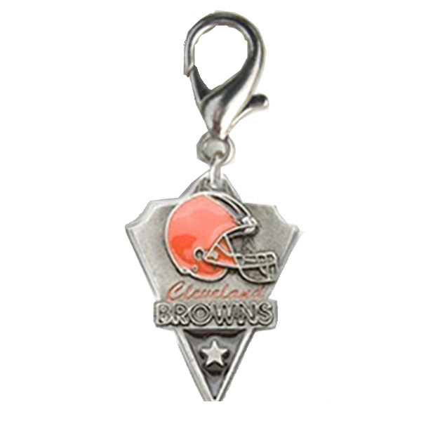 Cleveland Browns Pennant Dog Collar Charm