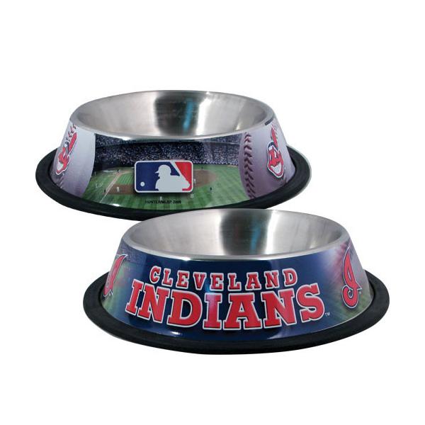 Cleveland Indians Dog Bowl
