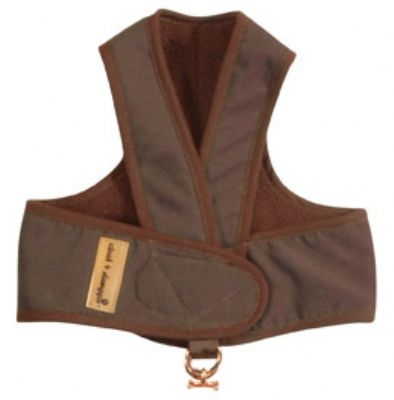 Cloak & Dawggie Step-N-Go Fleece Lined Harness - Chocolate