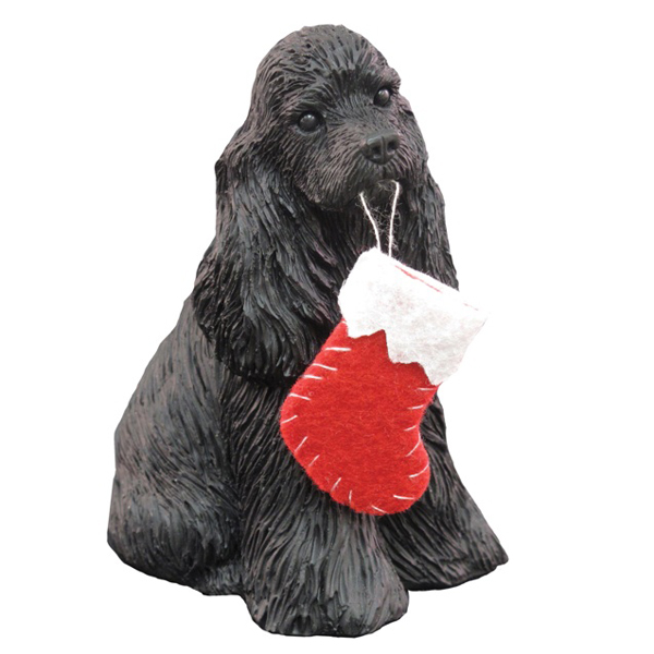 Cocker Spaniel Christmas Ornament - Black