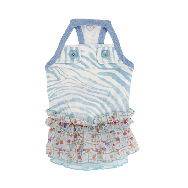 Compo Dog Dress by Pinkaholic - Blue