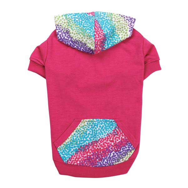 Confetti Pullover Dog Hoodie - Raspberry