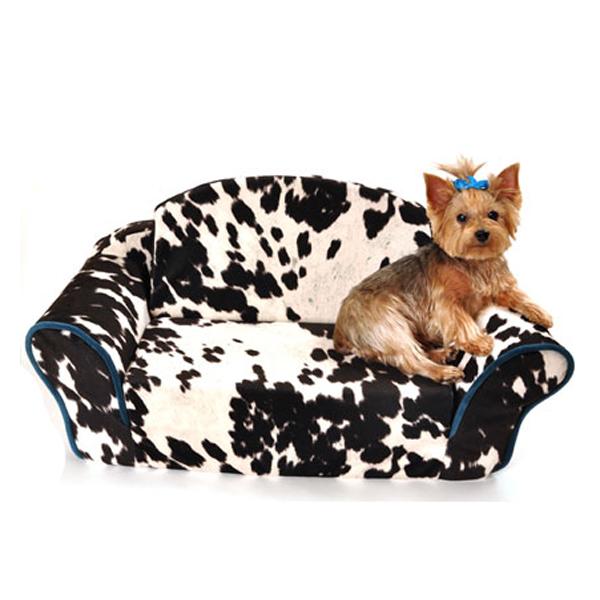 Cowprint Sleeper Sofa Dog Bed