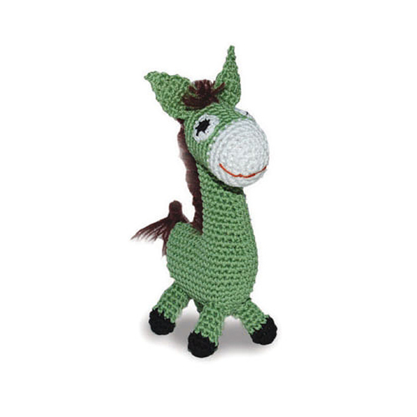 Donkey Crochet Dog Toy by Dogo