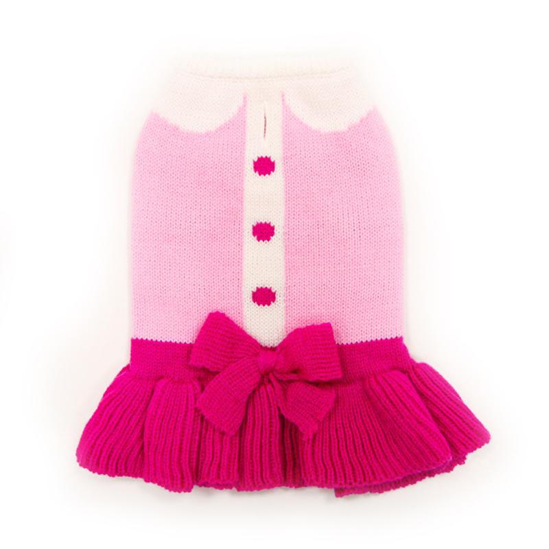 Cute Lady Dog Sweater Dress by Dogo
