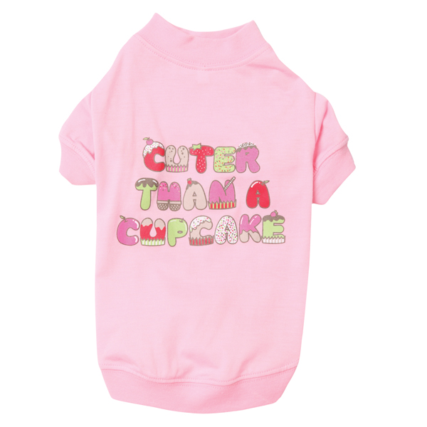 Cuter Than a Cupcake Dog T-Shirt - Pink