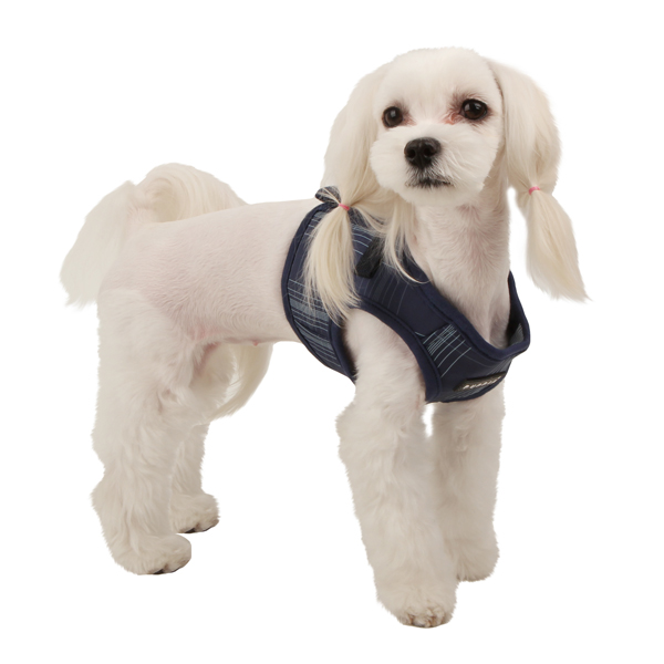 Cyberspace Dog Harness by Puppia - Navy