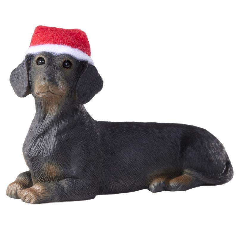 Dachshund Christmas Ornament - Black