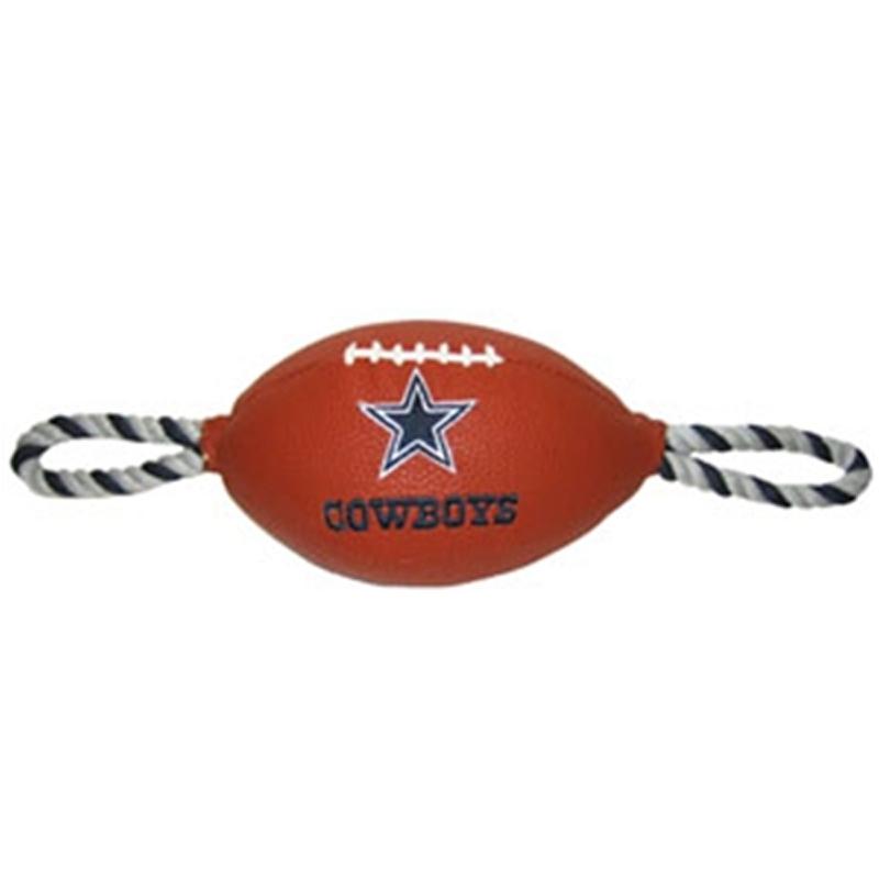 Dallas Cowboys Pebble Grain Football Dog Toy