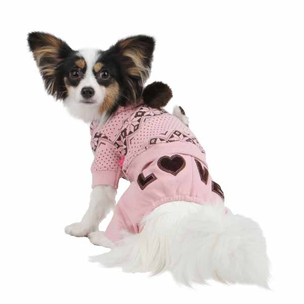 Daydream Dog Jumpsuit by Pinkaholic - Pink