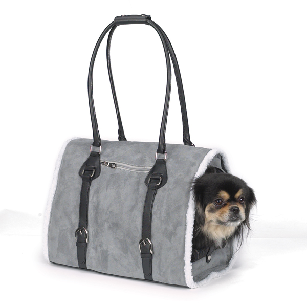 Deluxe Sherpa Pet Carrier by Zack & Zoey - Gray