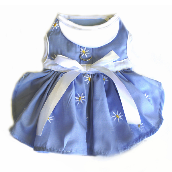 Denim and Daisy Dog Dress - Soft Blue