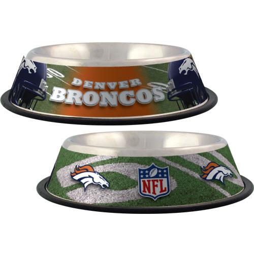 Denver Broncos Dog Bowl