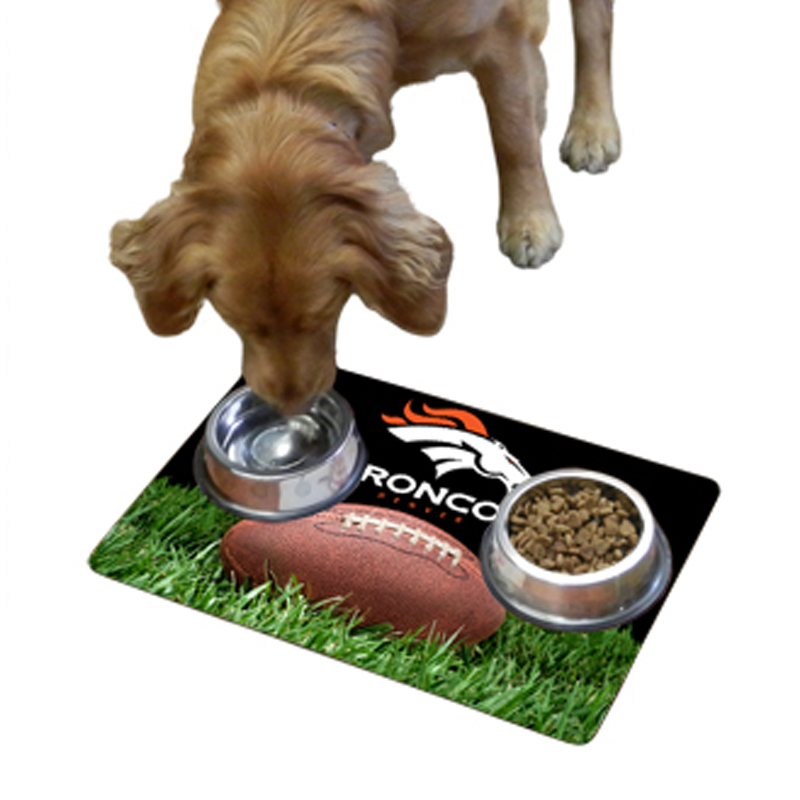 Denver Broncos Pet Bowl Mat